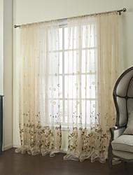 país dos paneles floral botánico del algodón color beige poli dormitorio mezcla cortinas transparentes tonos