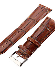 Unisex 26mm Craquelure Grain Leather Watch Band (Brown)