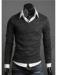 New Fashion Best Selling Spring Multi-Color Sweater Slim V-Neck Basic Sweater Male Thin Sweater
