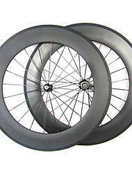 23 millimetri Larghezza 88 millimetri 700C carbonio pieno tubolare della bici della strada / Ruote bici