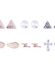 Ohrstecker Kristall vergoldet Imitation Diamant Modisch Golden Schmuck Party Alltag Normal 2 Stück