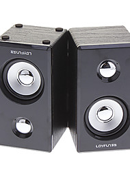LOYFUN M40 2,0 Woody Mini Hi-fi estéreo altavoz de la música para Laptop/Cellphone/MP4/PSP/CD
