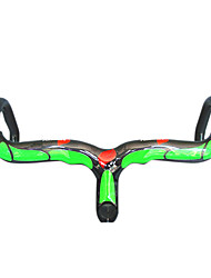 NEASTY - Full Carbon Green Road Bike/Bicycle Handlebar with integrated Stem