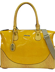 Women PVC Casual Shoulder Bag / Tote Yellow