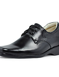 Leather Low Heel Comfort Oxfords Shoes