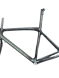 Full Carbon Black Road Bicycle Frame with Front Fork