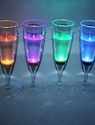 LED Plastic Champagne Glass (More Colors)