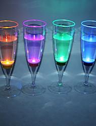LED de plástico vidro de Champagne (mais cores)