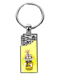 Personalized Rectangle Asian Style Keychain - A Martial Role in Chinese Opera