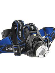 3-Mode del Cree XM-L T6 LED faro del zumbido (1000LM, 2x18650, Negro)