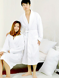 Bath Robe,Terry 100% Cotton White Solid Colour Garment Thicken