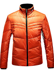 Men's Ski Down Jackets Wearable / Windproof / Thermal / Warm Red / Black / Blue / Orange Leisure Sports / Snowsports M / L / XL / XXL