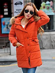 Women's Coats & Jackets , Polyester Casual/Work Yihuasha