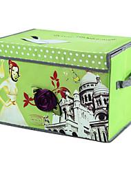 Modern Green Nonwovens Storage Box for Cloth