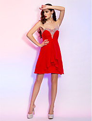 Homecoming Cocktail Party/Homecoming/Holiday Dress - Ruby Plus Sizes A-line Sweetheart Short/Mini Georgette