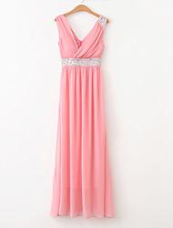 YSE Wunderschöne V-Ausschnitt Hochzeitskleid