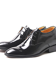 Men's Shoes Wedding/Office & Career/Party & Evening Leather Oxfords Black