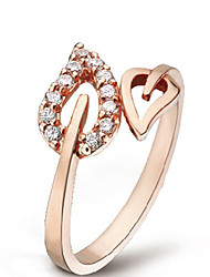 Fashion Diamante verlässt Muster Ring