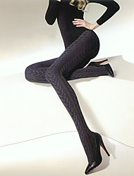 300D Knited Jacquard Weave Slim Pantyhose
