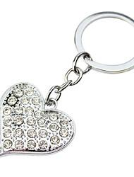 En forme de coeur Graveur Keycahin de cadeau personnalisé avec strass