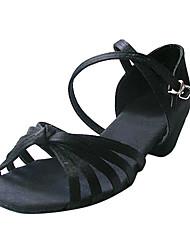 satinado superior salón de baile zapatos de la práctica de baile latino zapatos para mujeres / niños más colores