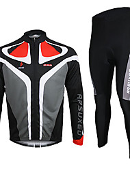 Arsuxeo Cycling Jersey with Tights Men's Long Sleeve Bike Breathable Thermal / Warm Quick DryJersey Jersey + Pants/Jersey+Tights Clothing