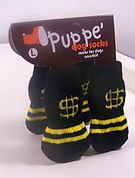 Socken & Schuhe für Hunde / Katzen Schwarz Winter S / M / L Baumwolle