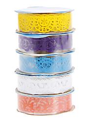 5 couleurs de rubans mignons forme creuse en dentelle