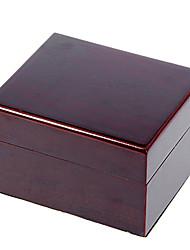 Brown bois Cuboid Boîte de montre