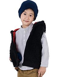 CF1992 Boy's Fleece Sports Hooded Vest(Black)