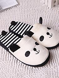 Guosheng Cute Panda Stripes Weiche Hausschuhe (weiß) (36/37 = 37,38 / 39 = 39,40 / 41 = 41)