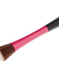 Flat Top Nylon Fan Brush (Red)