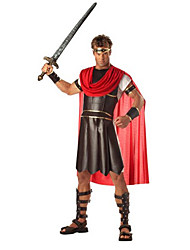 Hercules Black Polyester Men's Halloween Costume