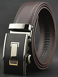 Men's Business Automatic Buckle  Genuine Leather Belt