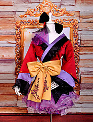 Inspired by Vocaloid Megurine Luka Video Game Cosplay Costumes Cosplay Suits / Kimono Patchwork Red / Purple Long SleeveKimono Coat /
