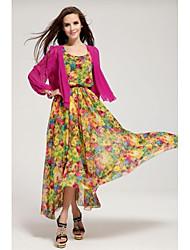 Women's Chiffon Vest Two-piece Ball Dress