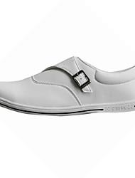 Zapatos de Hombre Boda/Exterior/Oficina y Trabajo/Vestido/Fiesta y Noche Cuero Sintético Mocasines Blanco