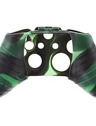 Pele de silicone para XBOX UM (verde + preto)