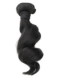 1Pcs 18inch Natural Black Loose Wave Brazilian Virgin Hair Weave
