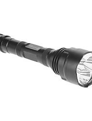 ANOWL AF600 5-Mode 3xCree XM-L T6 LED Flashlight (3000LM, 2x18650, Noir)