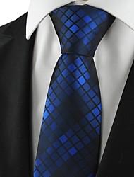 Motivo quadri Navy Mens Tie Abiti formali cravatta