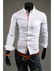 DD Wear Fashion Simple Solid Color Shirt(White)