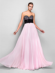 Prom / Formal Evening / Military Ball Dress - Open Back Plus Size / Petite A-line Sweetheart Floor-length Chiffon withCrystal Detailing /