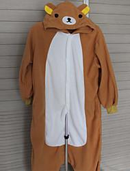 Kigurumi Pajamas Bear Leotard/Onesie Festival/Holiday Animal Sleepwear Halloween Patchwork Polar Fleece Kigurumi For UnisexHalloween