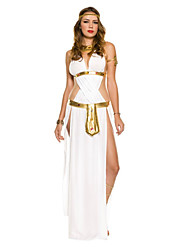 Greek Goddess White Satin Women's Carnival Costume