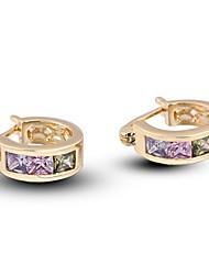 XINXIN Women's 18K Gold Zircon Earrings ER0246