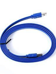 ULT-unir ULT-0433 USB 3.0 macho para macho de conexão Flat Cabo de dados - Deep Blue (60cm)