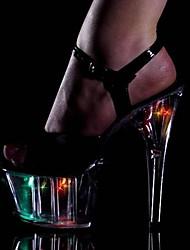 Women's Stiletto Heel Platform Sandals Shoes with Wlash Light