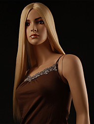100% Japanese Kanekalon Synthetic Long Straight Wig(Blonde)