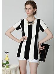 Patrón de la raya de la Mujer Moderna Loveplace vestido básico
